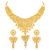 Asmitta Jewellery Alloy Jewel Set (Gold) -NS752