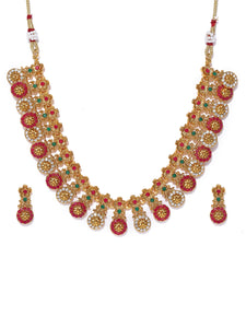 Asmitta Jewellery Multicolor Zinc Necklace Set - NS794