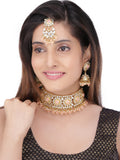 Asmitta Wedding wear Kundan Beaded Collar Necklace Set-NS805