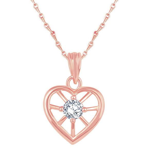 Asmitta Jewellery Rose Gold- Zinc Pendant  -P245