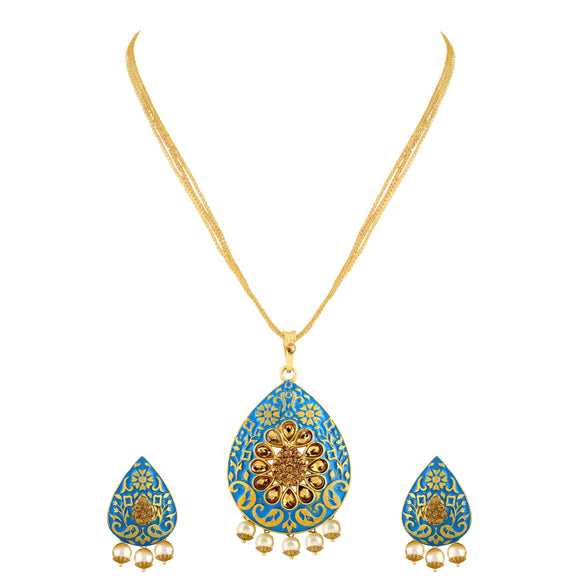 Asmitta Jewellery Zinc Jewel Set (Gold) -PS102