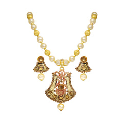 Asmitta Excellent Gold Plated With LCT Stone Pendant Set For Women