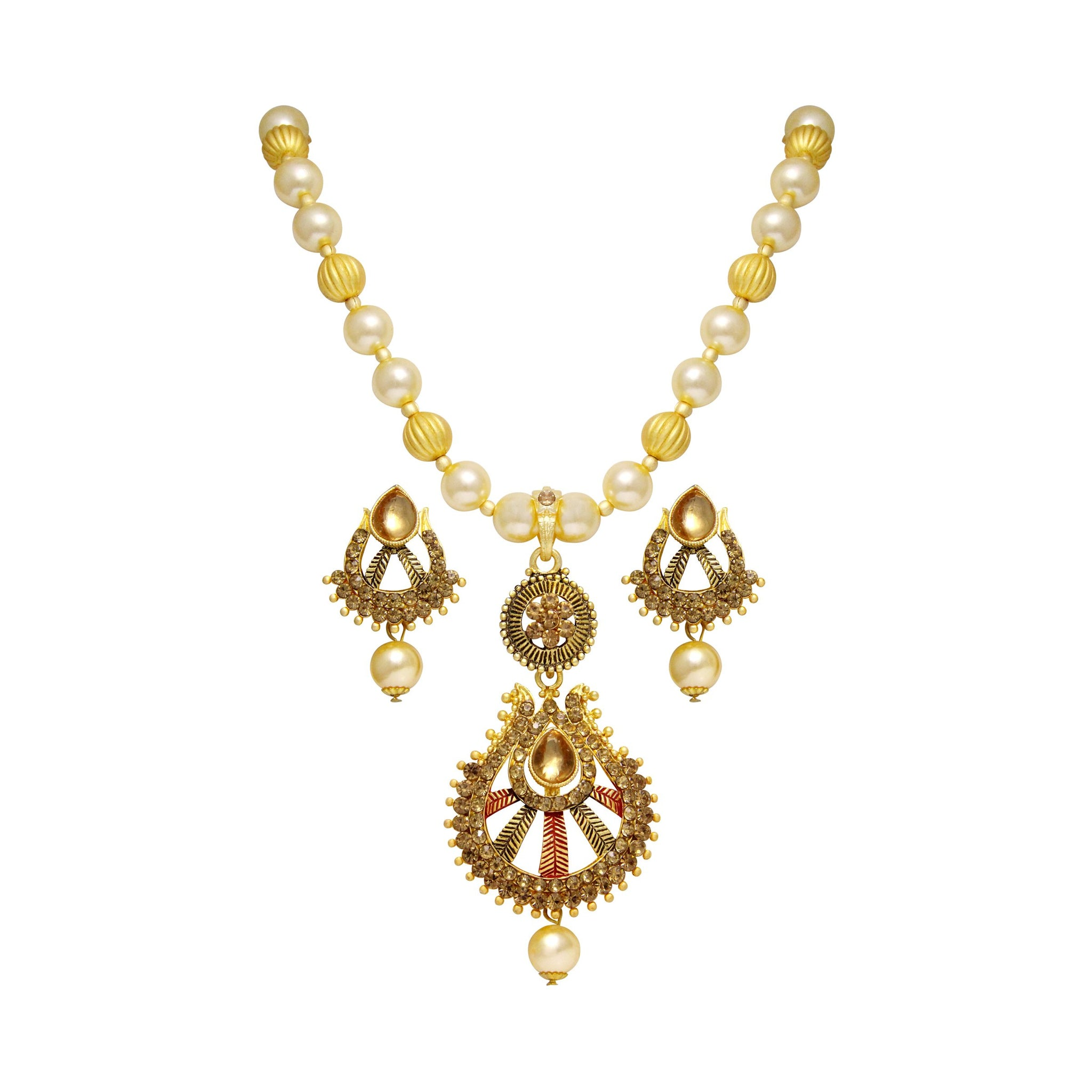 Asmitta Angelic Gold Plated With LCT Stone Pendant Set For Women