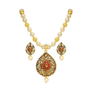 Asmitta Jewellery Zinc Jewel Set (Gold) -PS121