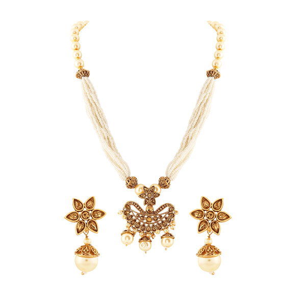 Asmitta Jewellery Zinc Jewel Set (Gold) -PS128