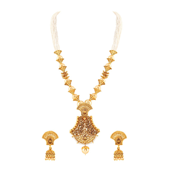 Asmitta Jewellery Zinc Jewel Set (Gold) -PS130