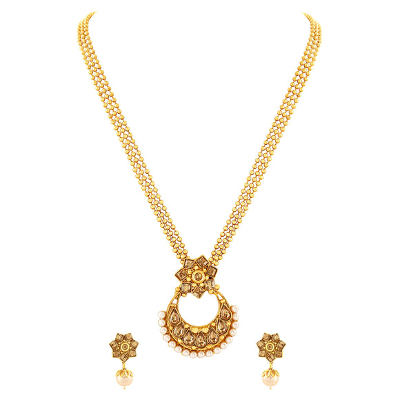Asmitta Jewellery Gold Zinc Pendant Set - PS132
