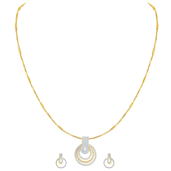 Asmitta Jewellery Gold Brass Pendant Set - PS159