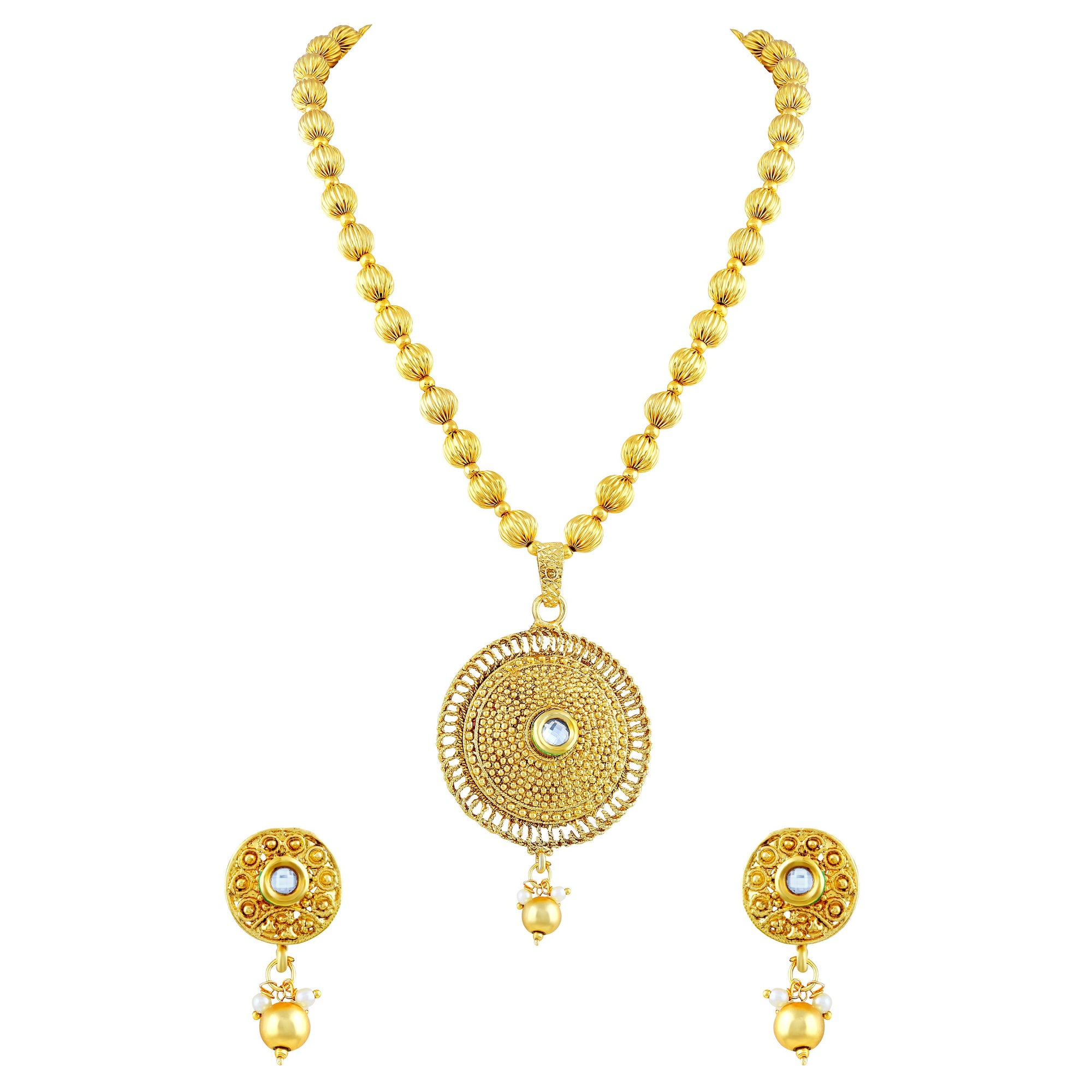 Asmitta Jewellery Alloy Jewel Set (Gold) -PS162