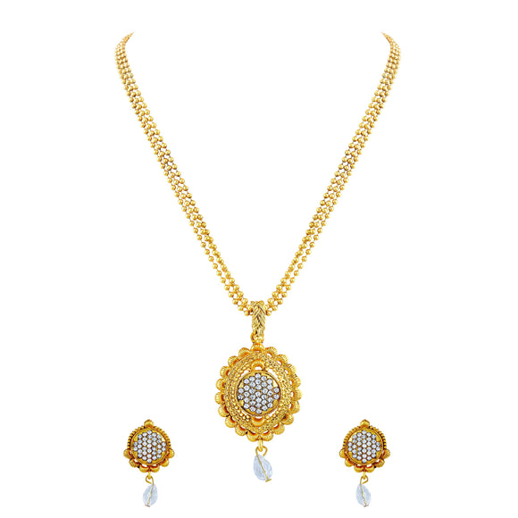 Asmitta Jewellery Alloy Jewel Set (Gold) -PS164