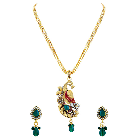 Asmitta Jewellery Gold Alloy Pendant Set - PS165