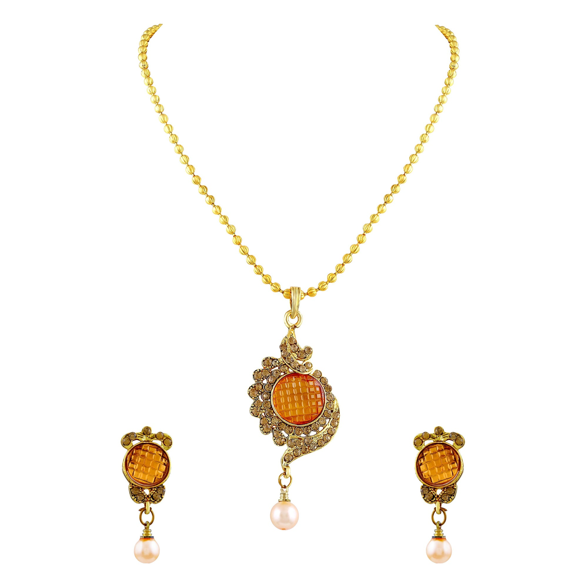 Asmitta Jewellery Alloy Jewel Set (Gold) -PS166