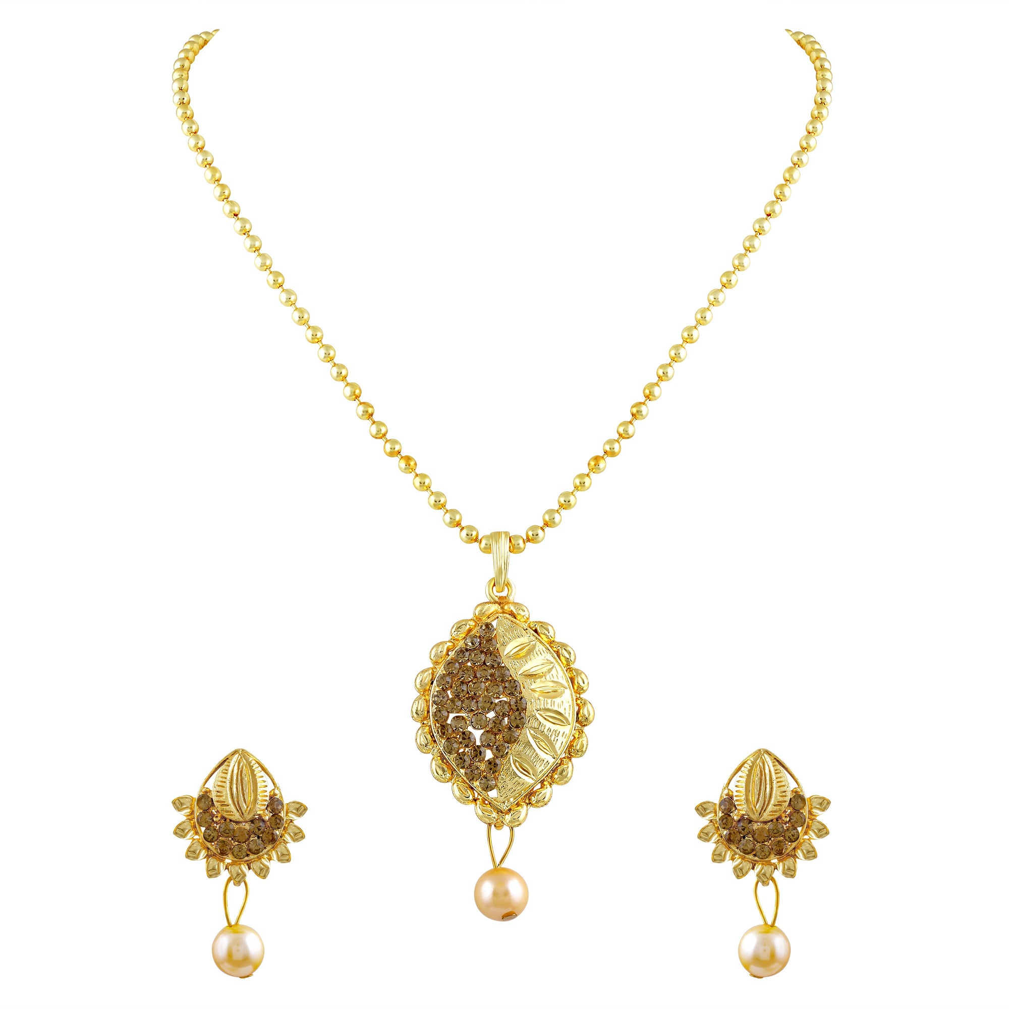 Asmitta Jewellery Alloy Jewel Set (Gold) -PS167