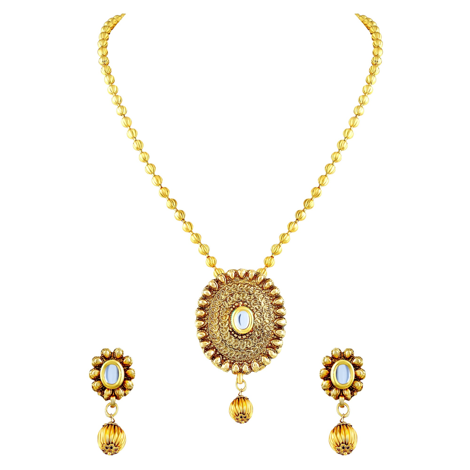 Asmitta Jewellery Alloy Jewel Set (Gold) -PS169