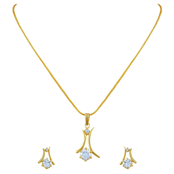 Asmitta Jewellery Brass Jewel Set (Gold) -PS173