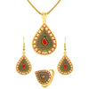 Asmitta Jewellery Zinc Jewel Set (Gold) -PS180