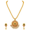 Asmitta Jewellery Gold Zinc Pendant Set - PS193