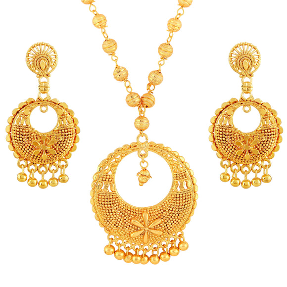 Asmitta Jewellery Brass Jewel Set (Gold) -PS206