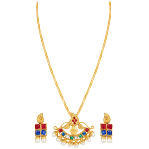Asmitta Jewellery Zinc Jewel Set (Gold) -PS225