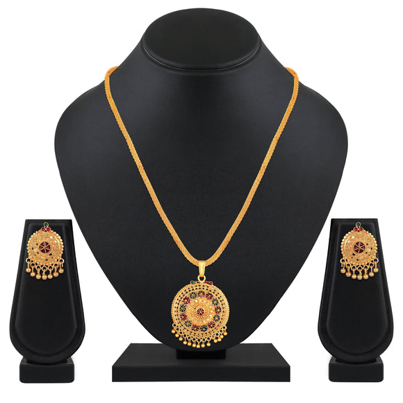 Asmitta Jewellery Gold Brass Pendant - PS256