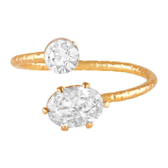Asmitta Jewellery Gold Finger Ring Alloy Ring  -R111