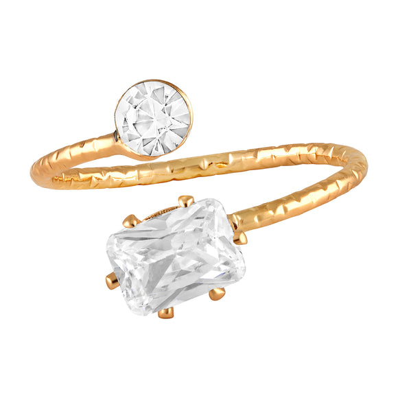 Asmitta Jewellery Gold Finger Ring Alloy Ring  -R114