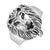 Asmitta Jewellery Lion Silver Finger Ring For Men -R158