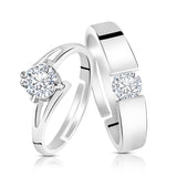 Asmitta Jewellery Silver Couple Ring -R185