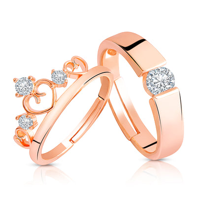 Asmitta Jewellery Rose Gold Couple Finger Ring -R186