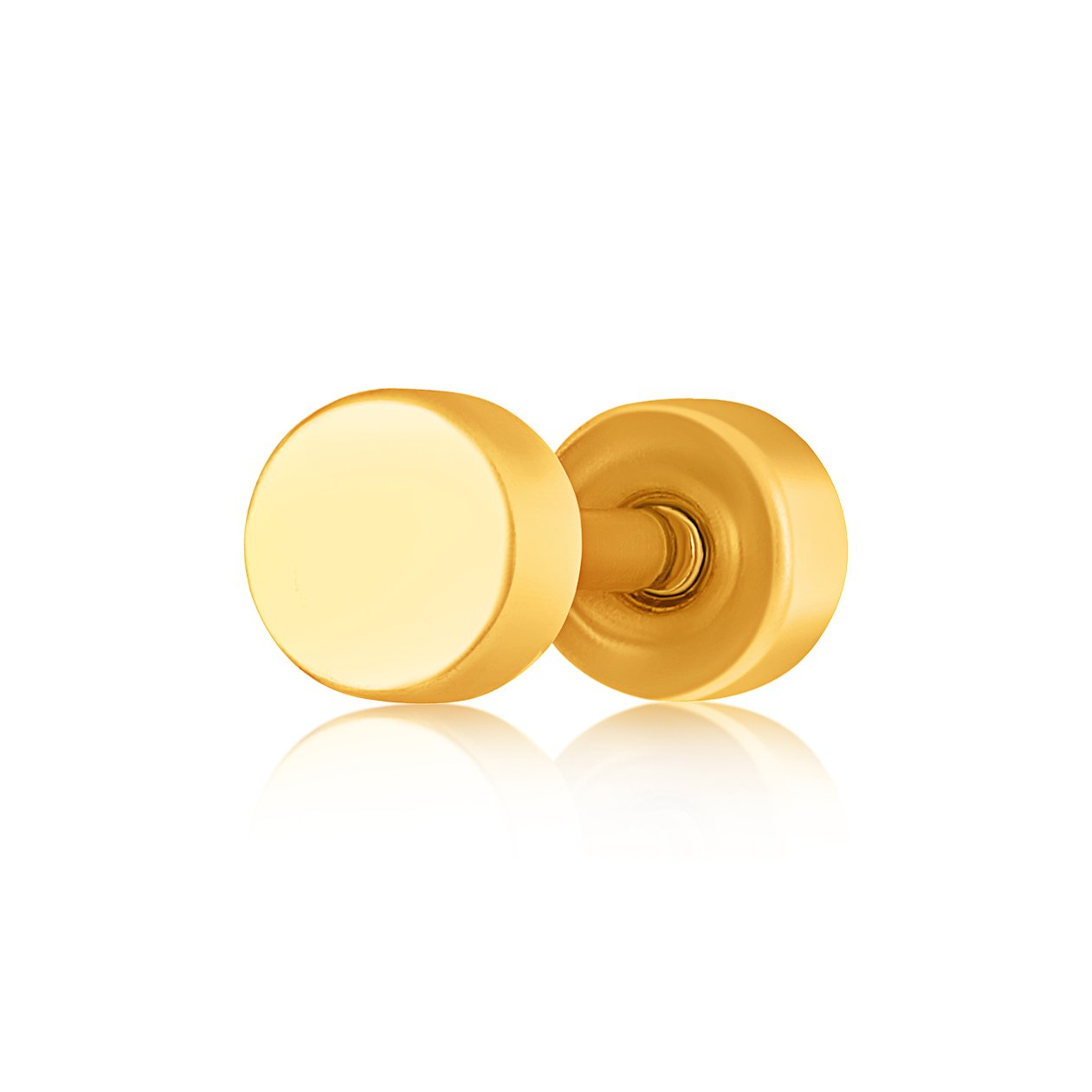 Asmitta Jewellery Men Gold  Single Stud Earring For Unisex  -SM125