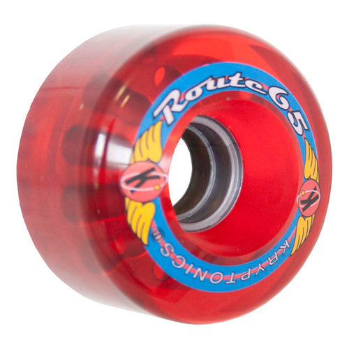 "Kryptonics ""Route"" 65mm 78A Trans Red"