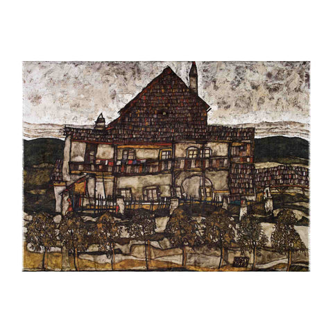 House with Shingles Scarf - Egon Schiele - Vestilarte