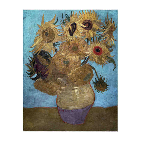 Still Life : Vase with Twelve Sunflowers Scarf - Vincent Van Gogh - Vestilarte