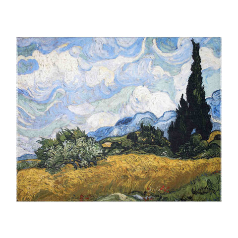 Wheat Field with Cypresses Scarf - Van Gogh - Vestilarte