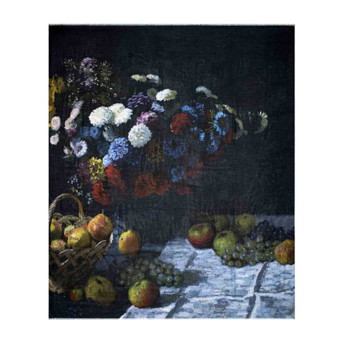Still Life with Flowers and Fruit Scarf - Claude Monet - Vestilarte