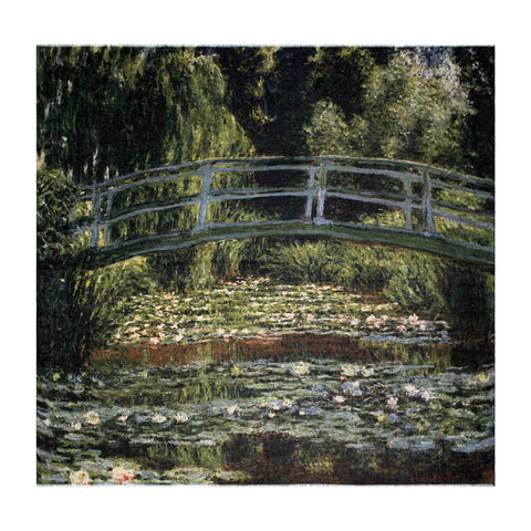 The Japanese Footbridge and the Water Lily Pool Scarf - Claude Monet - Vestilarte