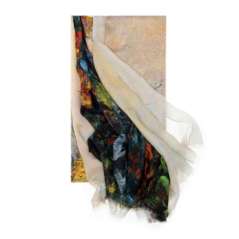Flower Bens at Vetheuil Scarf - Claude Monet - Vestilarte