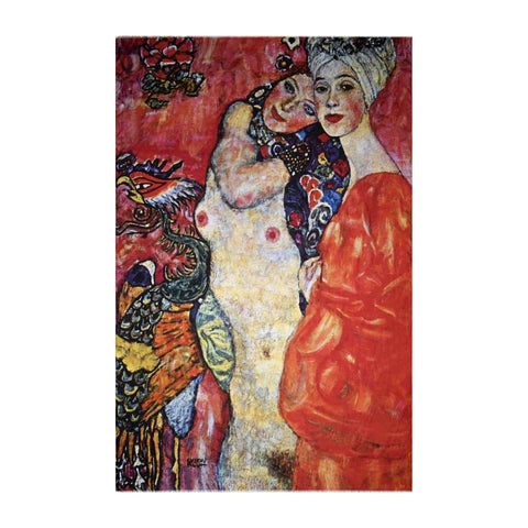 The Women Friends Scarf - Gustav Klimt - Vestilarte