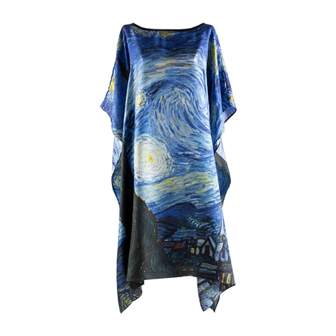 Starry Night Kaftan  - Vincent Van Gogh - Vestilarte