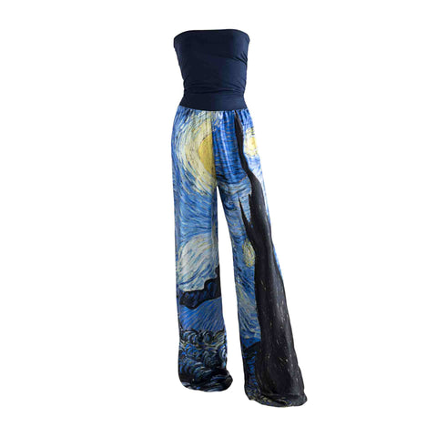 Starry Night Dress Pant - Vincent Van Gogh - Vestilarte