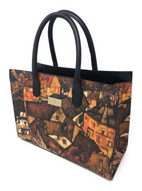 Crescent Of Houses- Egon Shiele Lady-Bag - Vestilarte
