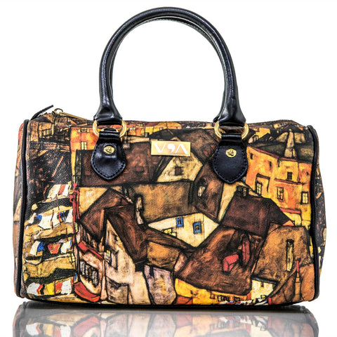 Crescent Of Houses- Egon Shiele Handbag - Vestilarte