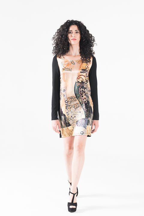 Sea Serpents Dress - Gustav Klimt - Vestilarte