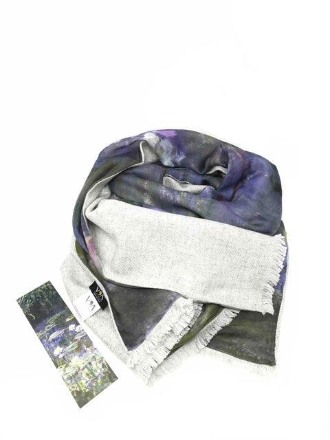 Water Lilies Double Scarf - Monet - Vestilarte