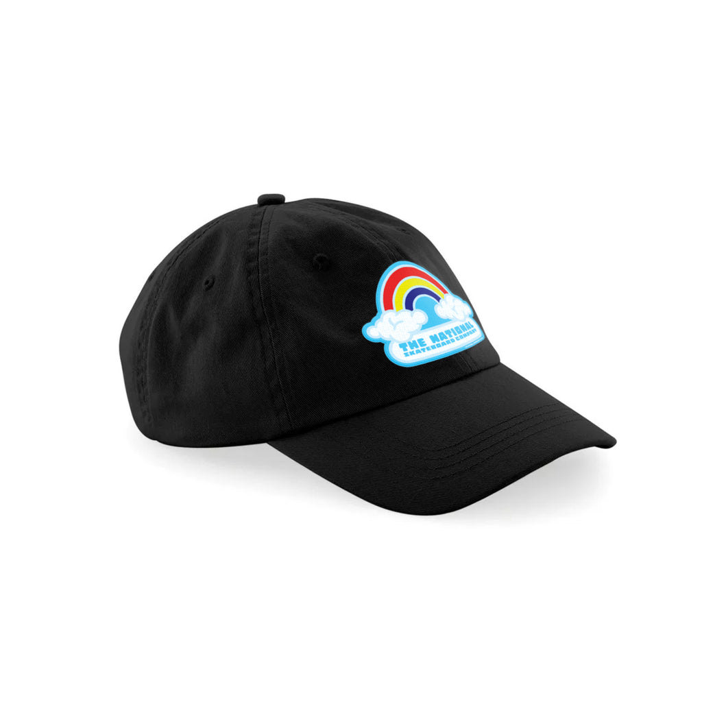 DOUBLE RAINBOW 6 PANEL CAP - BLACK