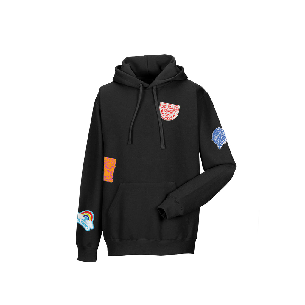SLAP IT HOODED SWEATSHIRT - BLACK