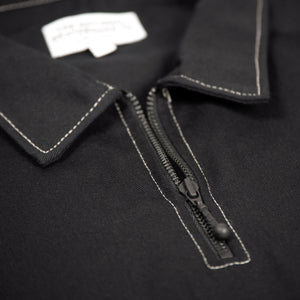 QUARTER ZIP SHIRT - BLACK (COLLECTION 2)