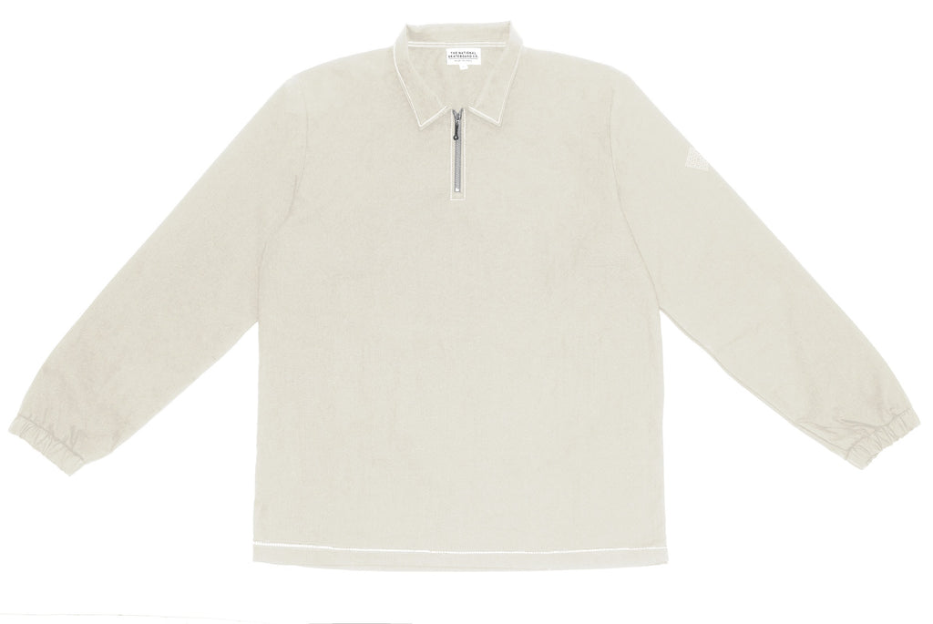 QUARTER ZIP SHIRT - STONE (COLLECTION 2)