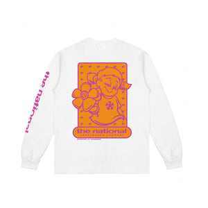 HOOK UP LONGSLEEVE T-SHIRT - WHITE