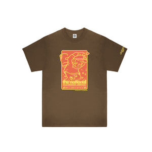HOOK UP SHORTSLEEVE T-SHIRT - BROWN